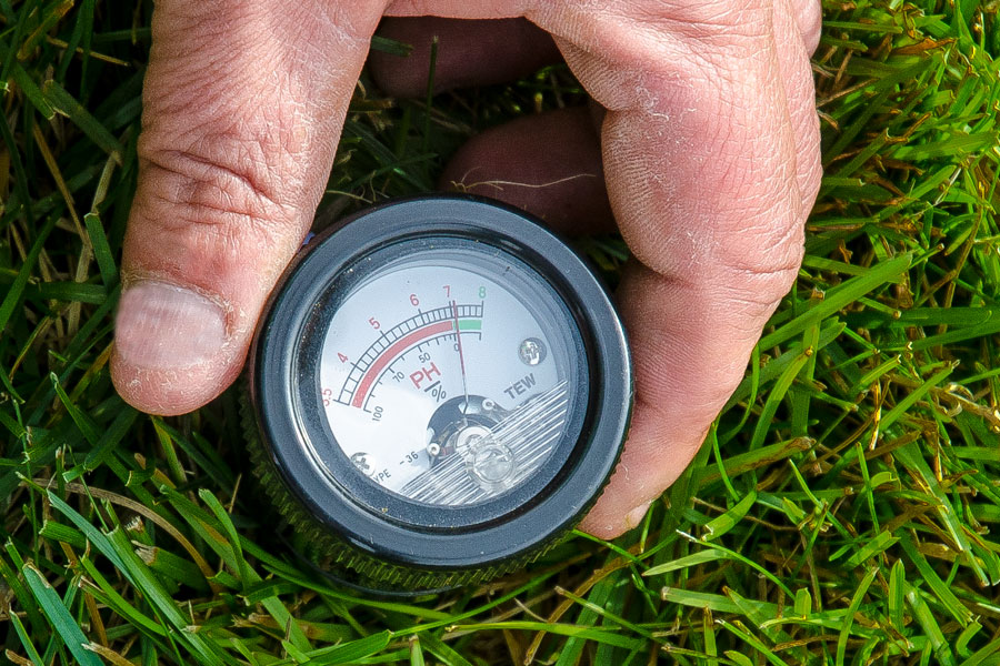Entretien de pelouse - Test de Ph